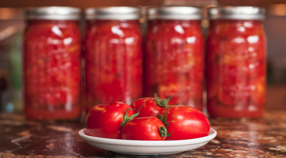 How to can freshly picked tomatoes