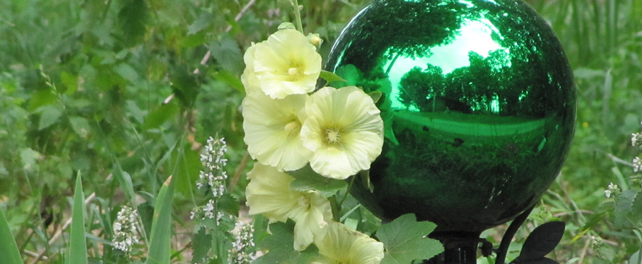 gazing balls help gardens grow better